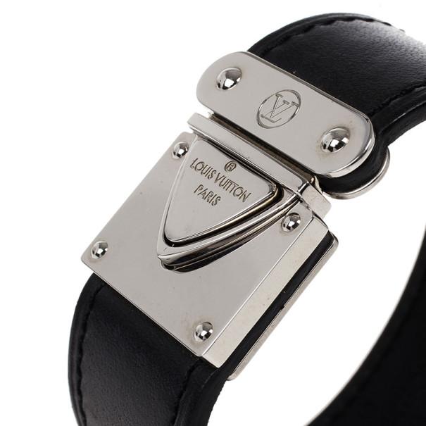 Louis Vuitton Nomade Koala Black Leather Bracelet 17CM