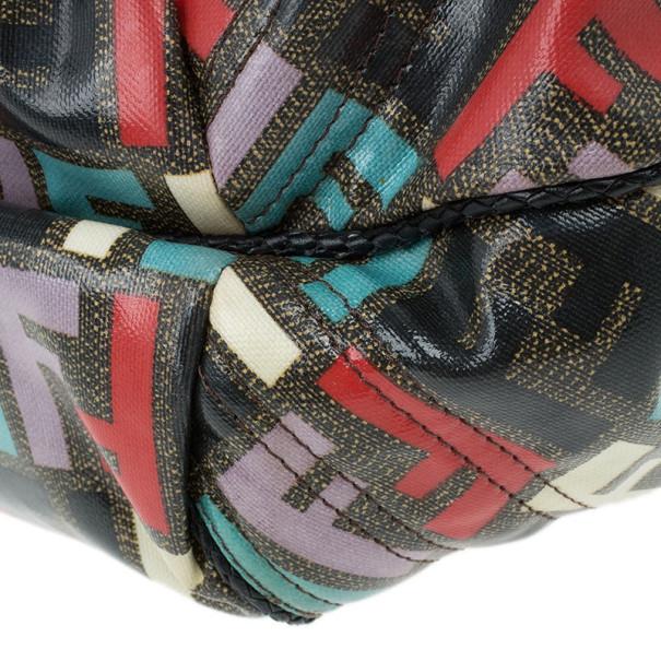 Fendi Multicolor Coated Canvas Spy Bag