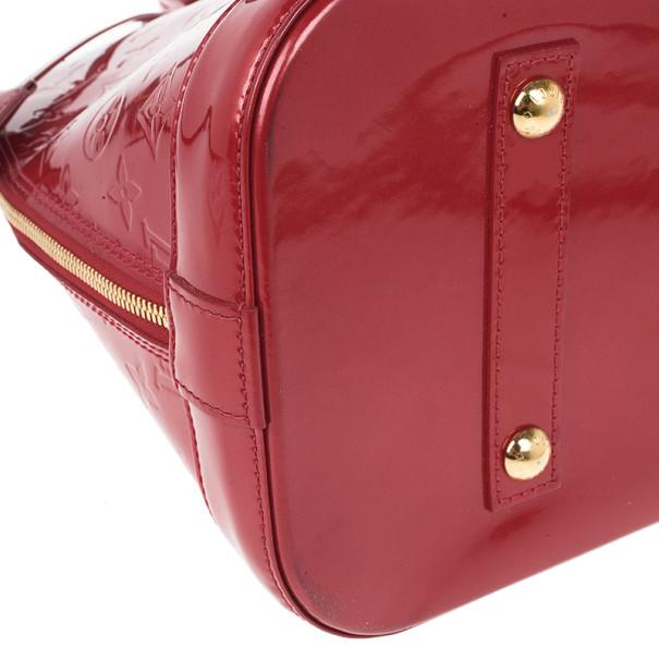 Louis Vuitton Red Monogram Vernis Alma