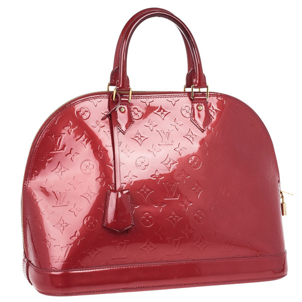 Louis Vuitton Red Monogram Vernis Alma