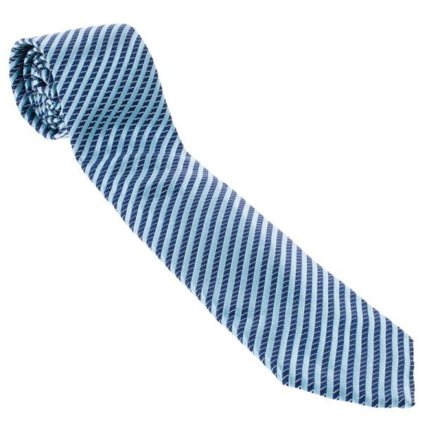 Giorgio Armani Woven Silk Striped Tie