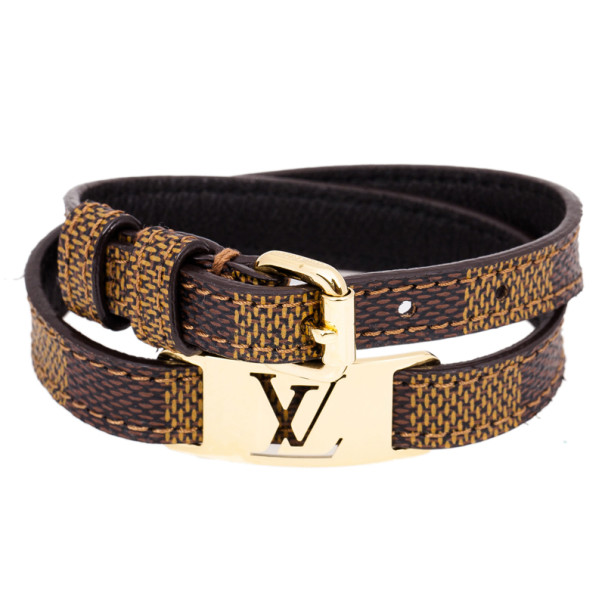 Louis Vuitton Sign It Damier Ebene Leather Bracelet