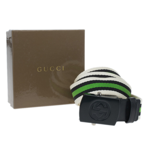 Gucci Web Detail Canvas Belt 95CM