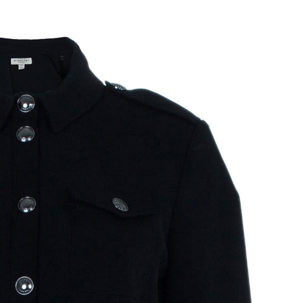 Burberry Black Novacheck Contrast Cuff Shirt Dress M