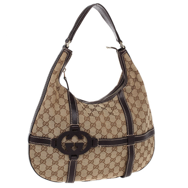 Gucci Beige GG Canvas Royal Hobo