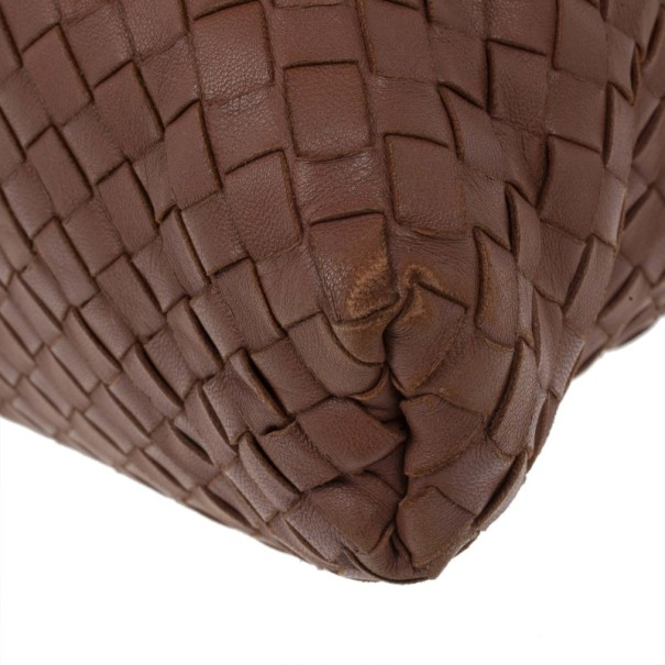 Bottega Veneta Brown Intrecciato Nappa Convertible Bag