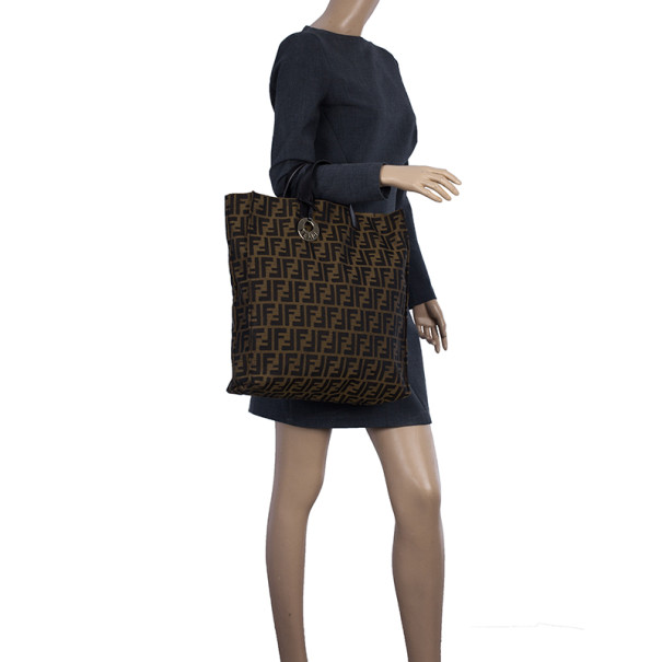 Fendi Brown Vertical Chef Shopping Bag