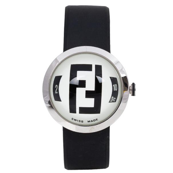 Fendi White Stainless Steel Bubble Women's Wristwatch 38MM