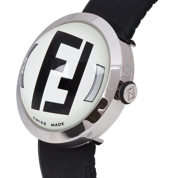 Fendi White Stainless Steel Bubble Women's Wristwatch 38MM