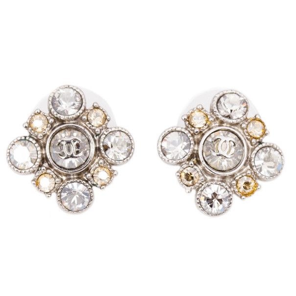 Chanel CC Rhinestone Earrings