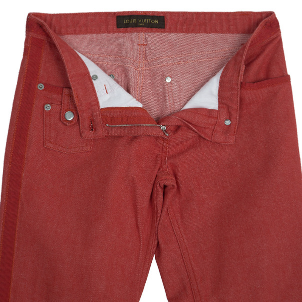 Louis Vuitton Red Pants S