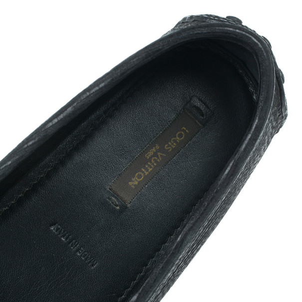Louis Vuitton Black Leather Oxford Loafers Size 39