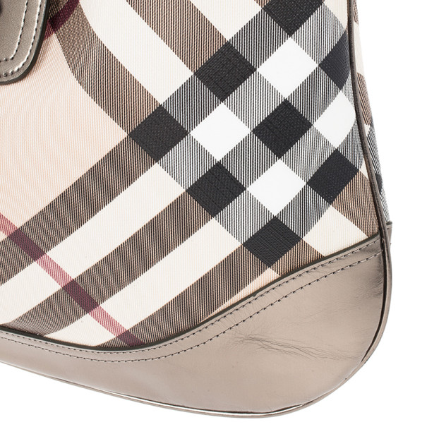 Burberry Nova Check Buckle Hobo