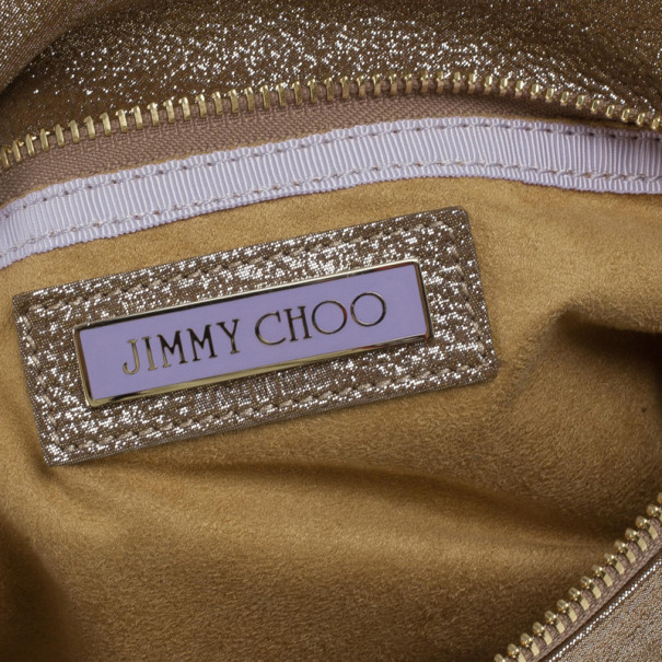 Jimmy Choo Bronze Leather Troy Clutch