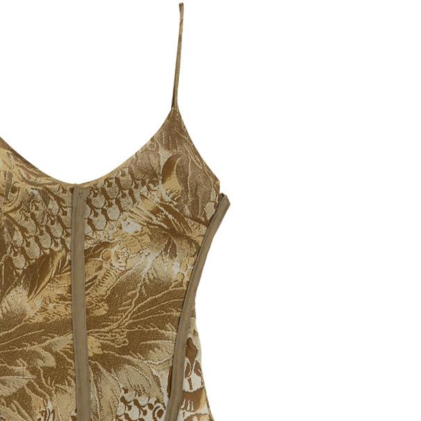 Roberto Cavalli Printed Corset Bustier Maxi Dress S