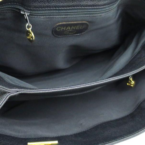 Chanel Black Caviar Supermodel Shoulder Bag