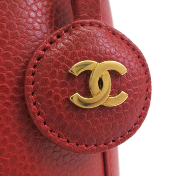 Chanel Red Caviar Vanity Bag
