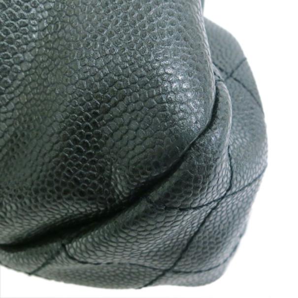 Chanel Black Lambskin Accordion Shoulder Bag