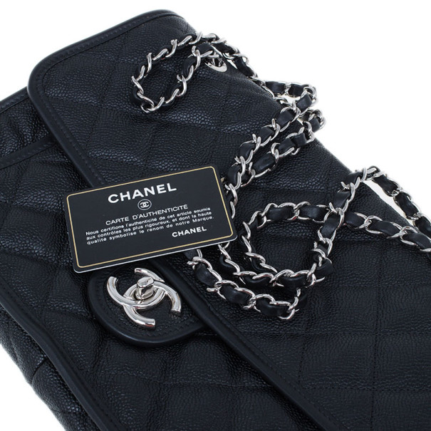 Chanel Black Caviar Jumbo Flap Bag
