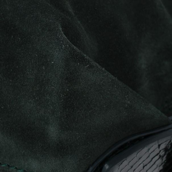 Ralph Lauren Suede Python Feed Bag