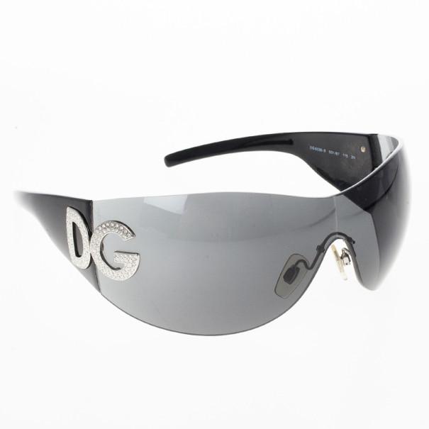 Dolce and Gabbana Black Shield Women's Sunglasses