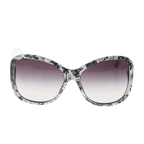 Dolce and Gabbana 4132 Lace Print Polka Dot Sunglasses