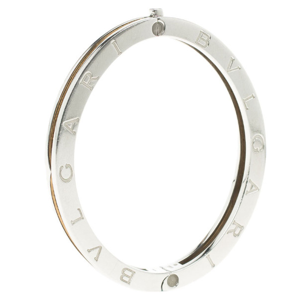 Bvlgari B.Zero1 Stainless Steel and 18K Yellow Gold Bangle Bracelet 16CM