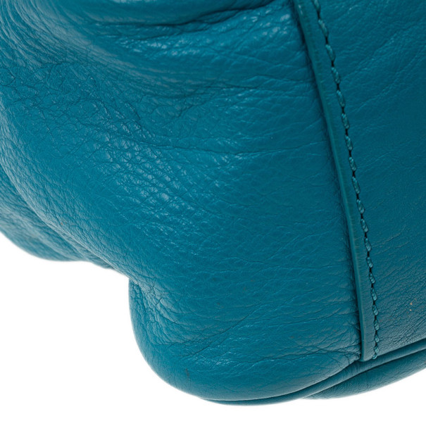 Marc by Marc Jacobs Blue Leather Too Hot To Handle Top Handle Bag
