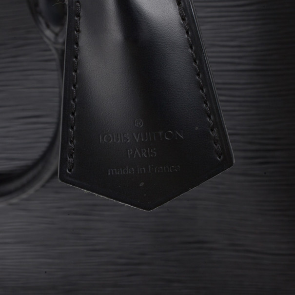 Louis Vuitton Black Epi Alma GM