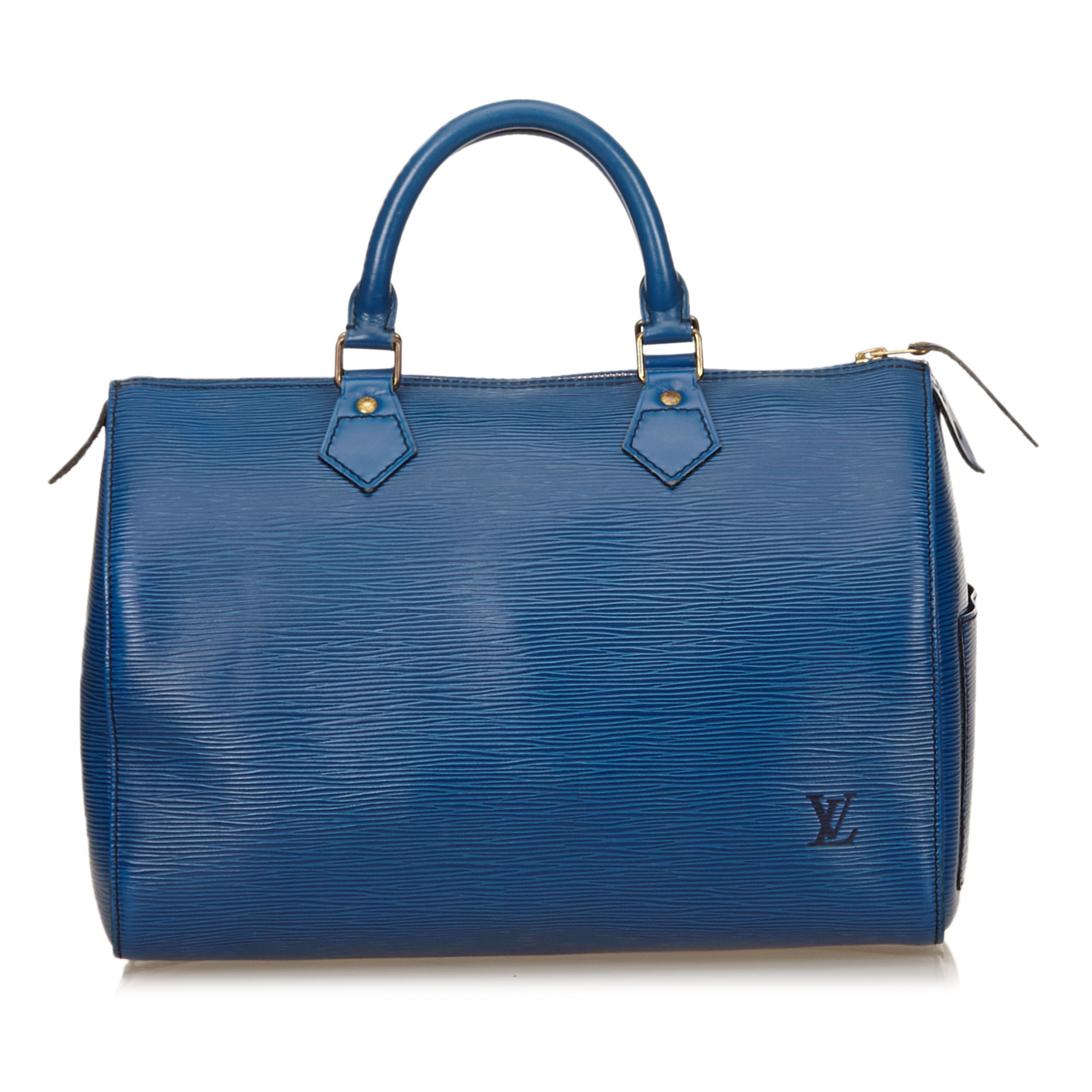 Louis Vuitton Toiedo Blue Epi Leather Speedy 30