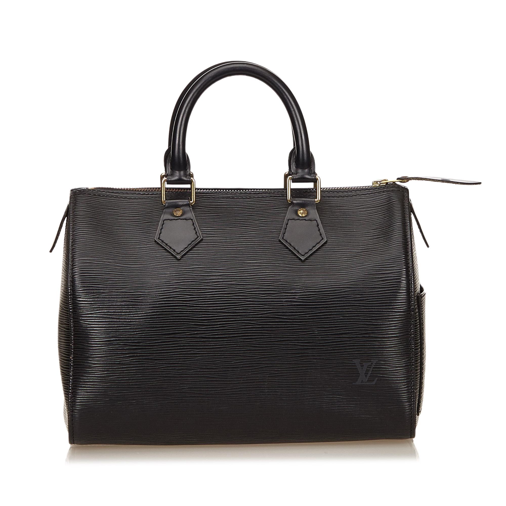 Louis Vuitton Black Epi Leather Speedy 25