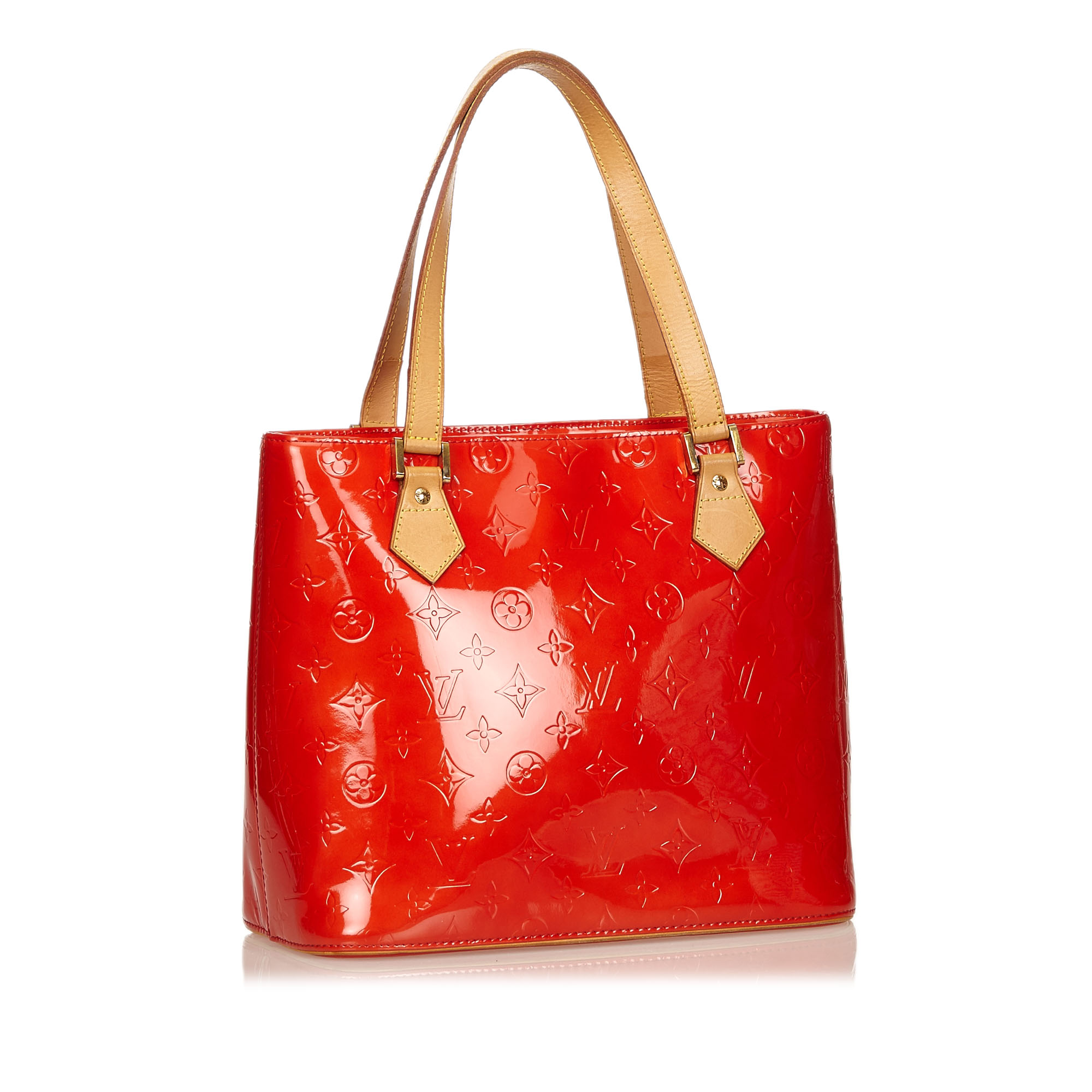 Louis Vuitton Red Monogram Vernis Houston Tote