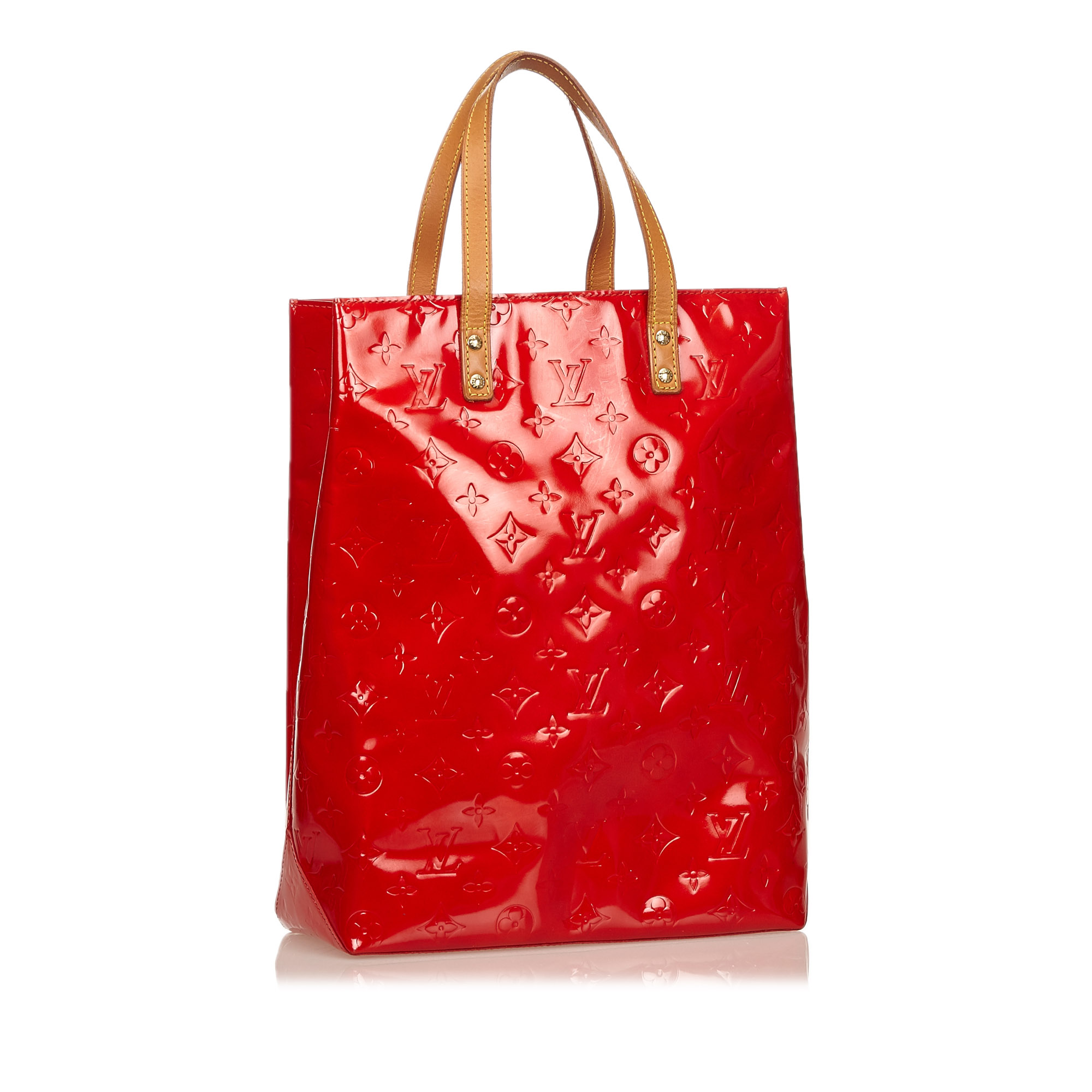 Louis Vuitton Red Vernis Reade MM