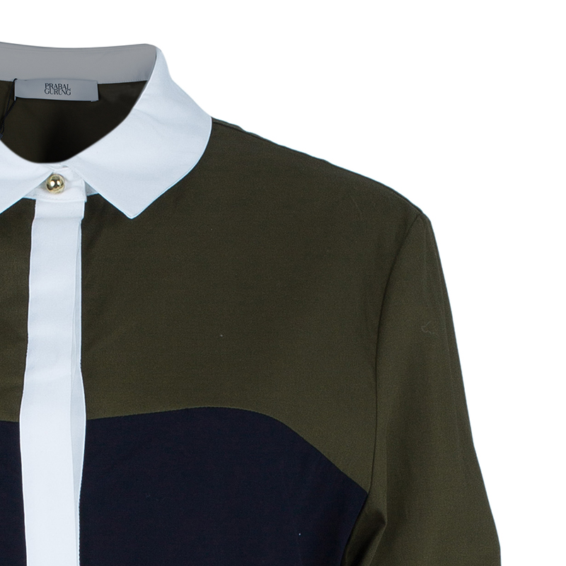 Prabal Gurung Colorblock Shirt M
