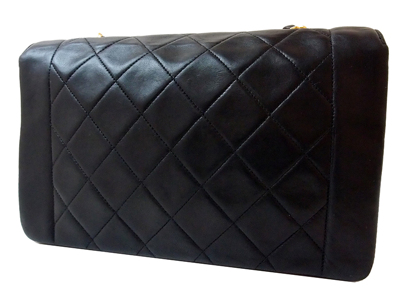 Chanel Black Lambskin Classic Single Flap Bag