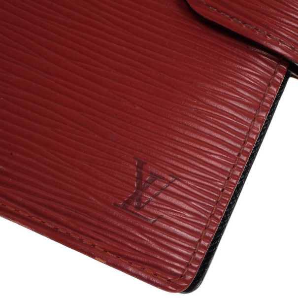 Louis Vuitton Red Epi Leather Small Agenda Cover