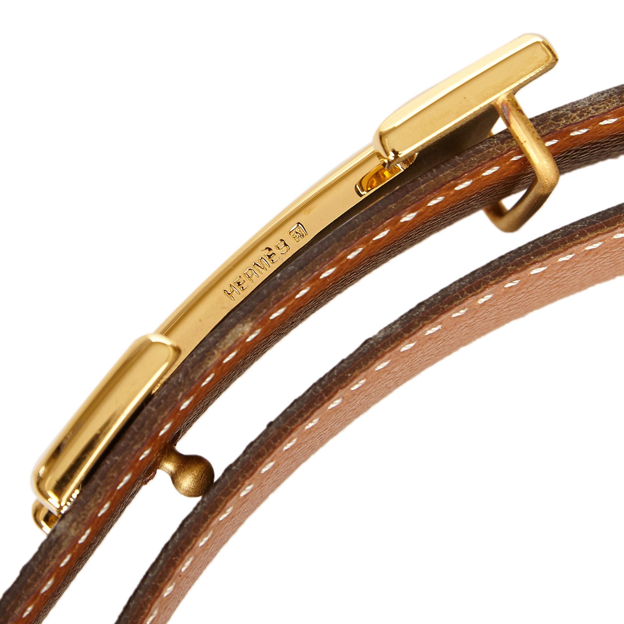 Hermes Black/Brown Leather Reversible Constance Belt 65 CM