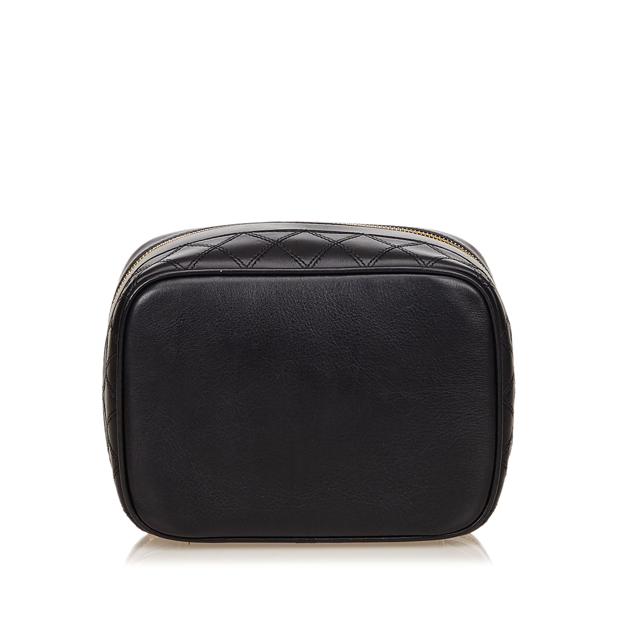 Chanel Black Quilted Lambskin Vanity Case