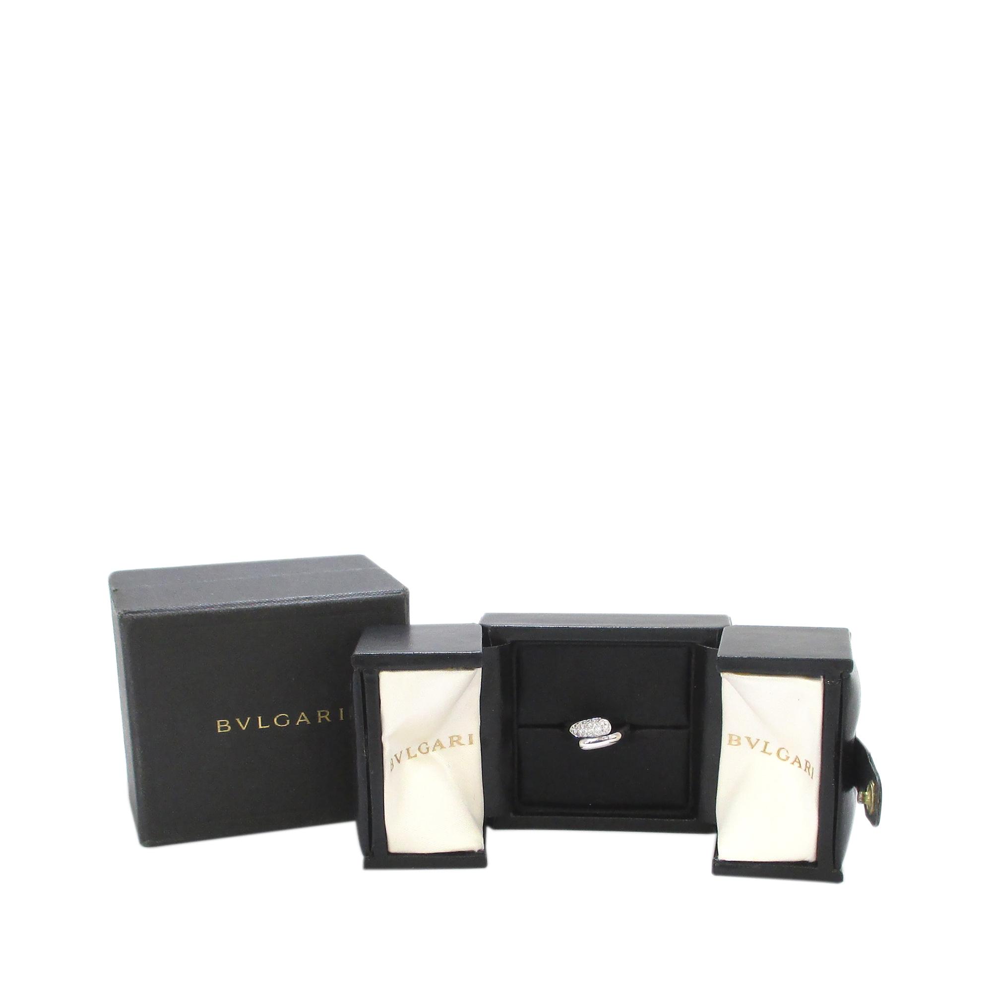 Bvlgari Diamond Pavé White Gold Ring Size 50