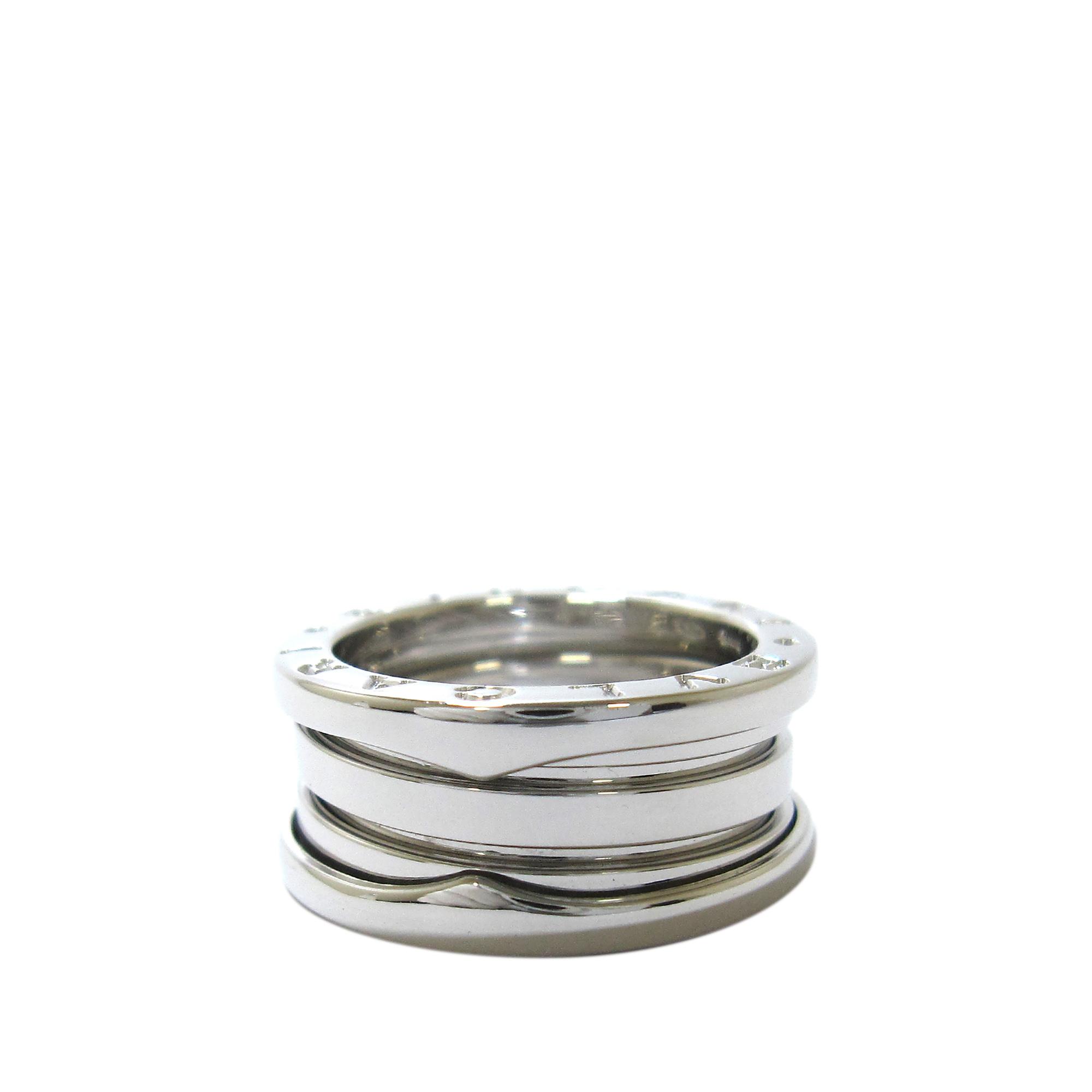 Bvlgari B.Zero1 18K White Gold 3 Band Ring Size 50