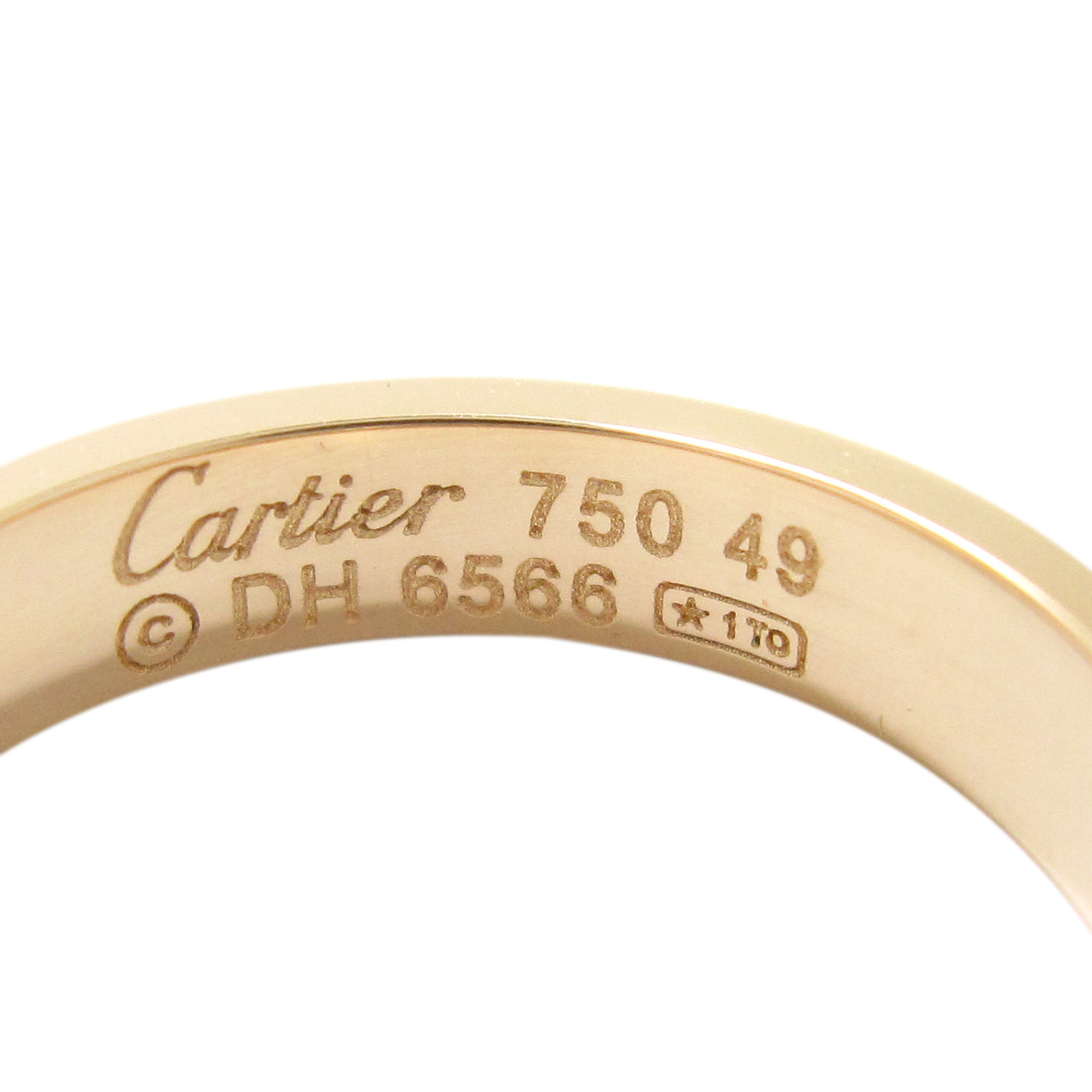 Cartier Love Rose Gold Wedding Band Size 49