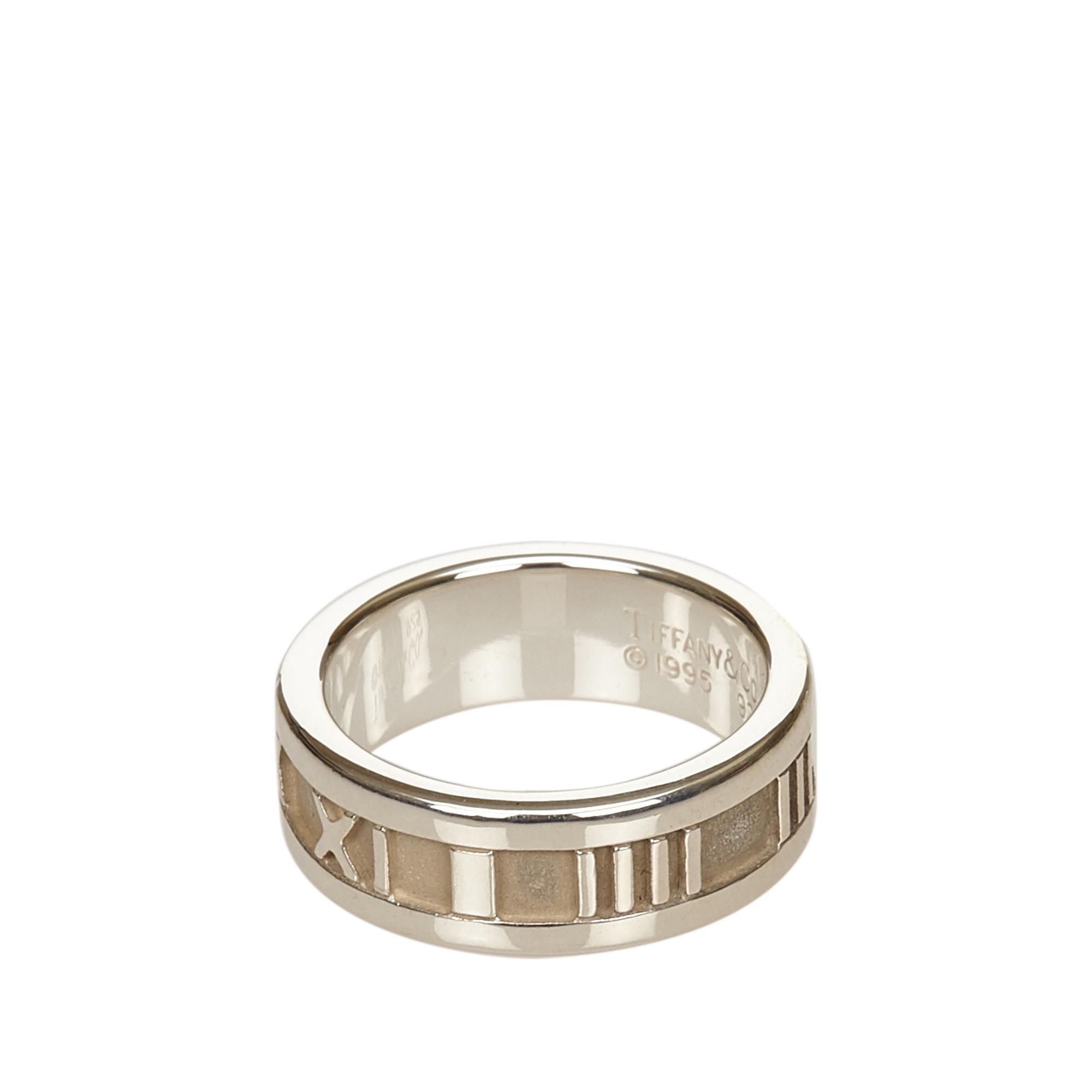Tiffany & Co. Atlas Silver Ring Size 53
