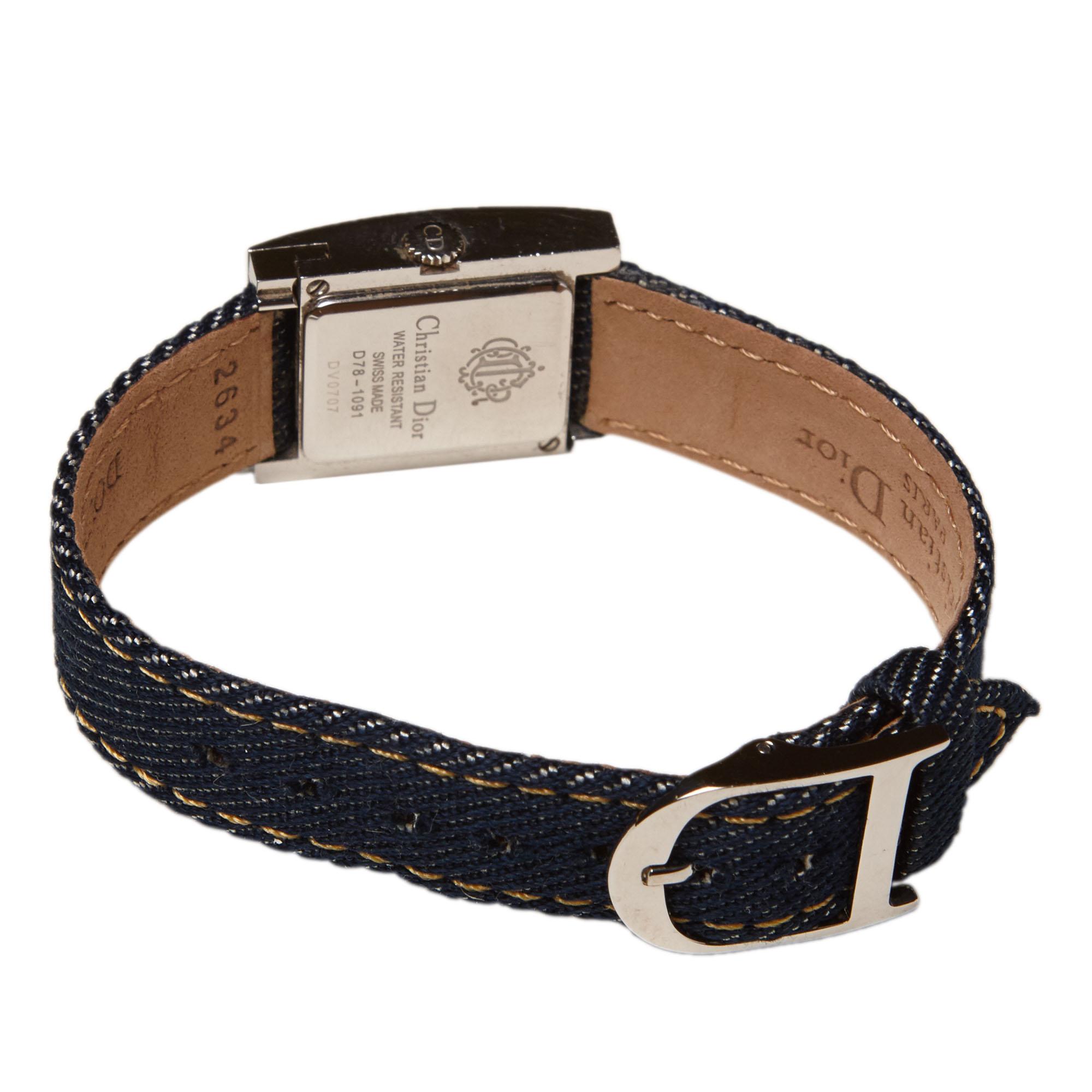 Dior White Stainless Steel Multi-Strap Malice Women's Wristwatch 20MM
