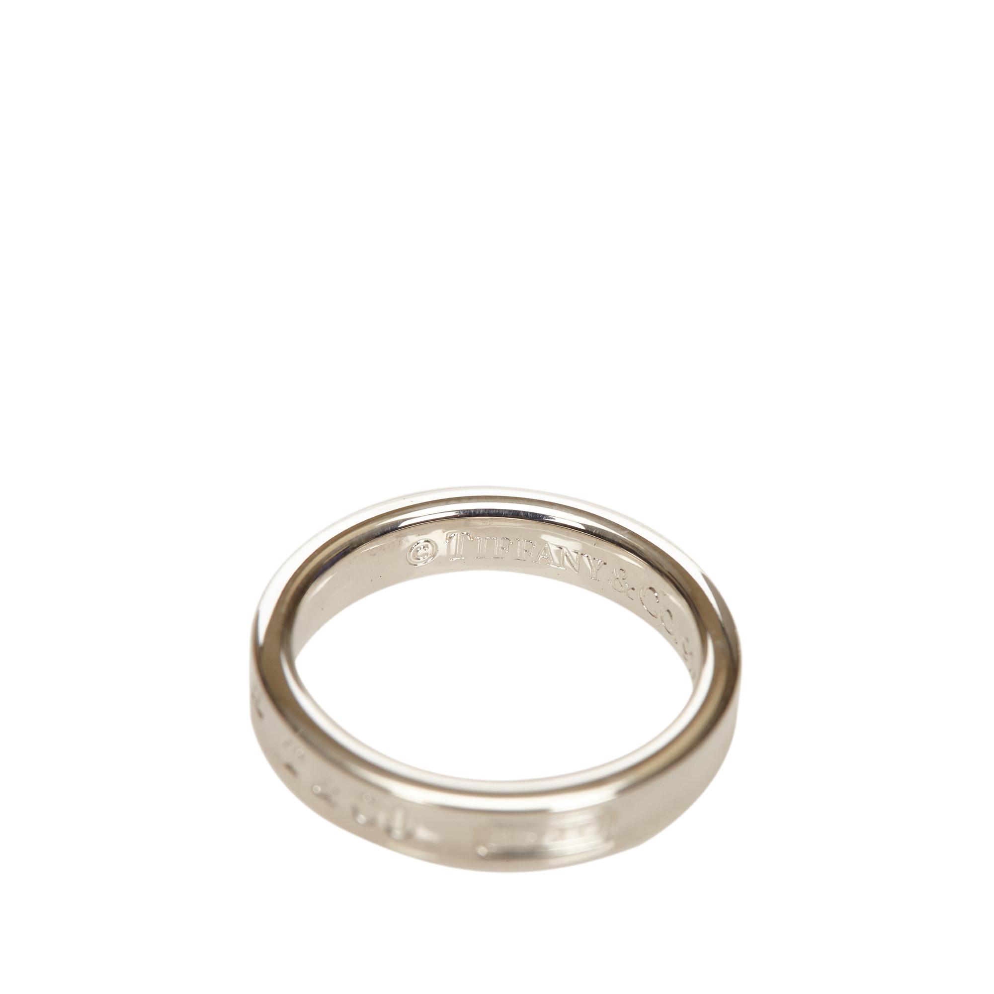 Tiffany & Co. Tiffany 1837 Silver Ring Size 54