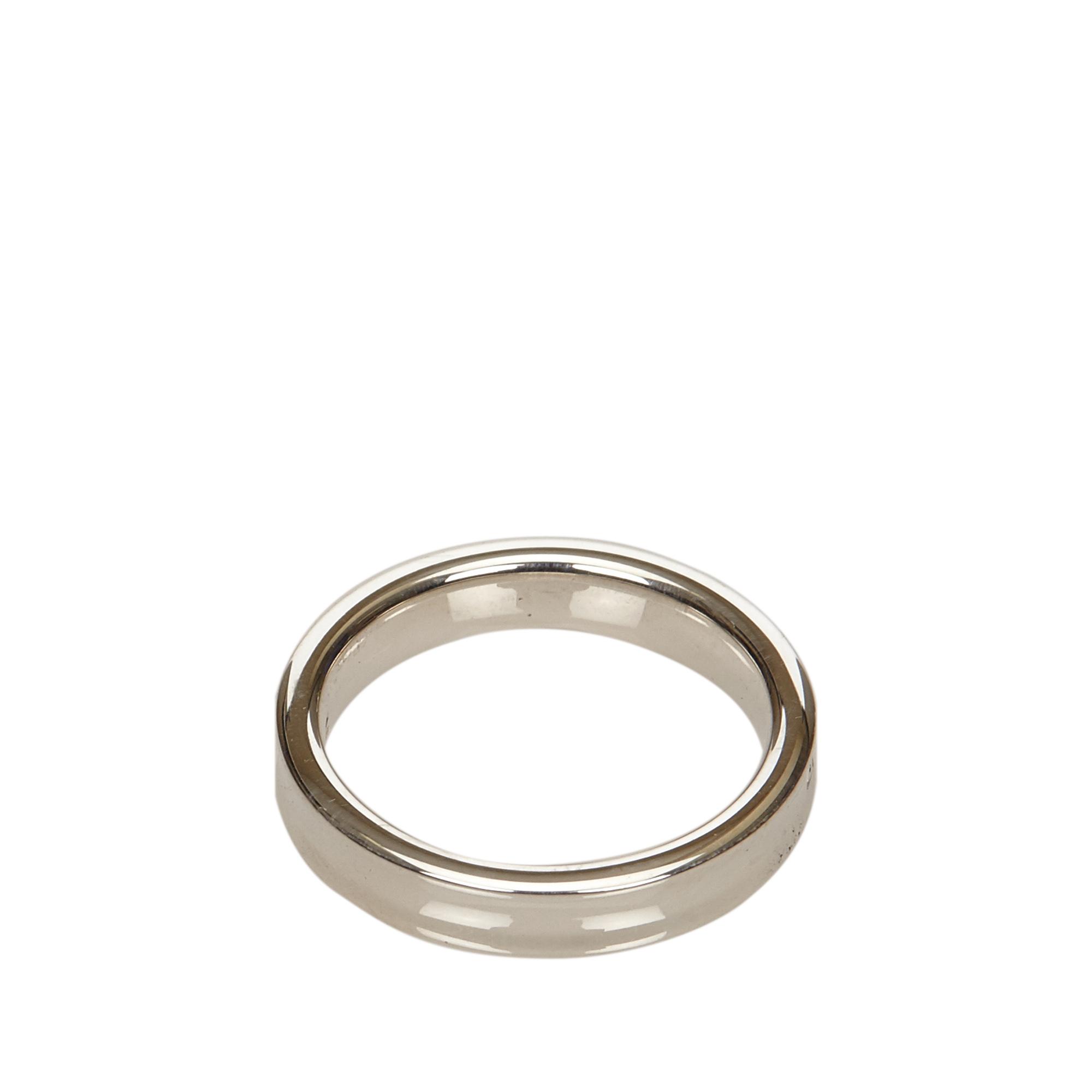 Tiffany & Co. Tiffany 1837 Silver Ring Size 51