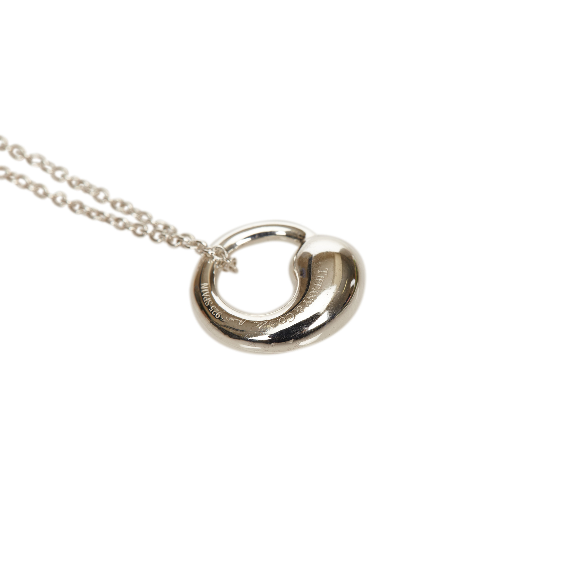 Tiffany & Co. Elsa Peretti Eternal Circle Silver Pendant Necklace