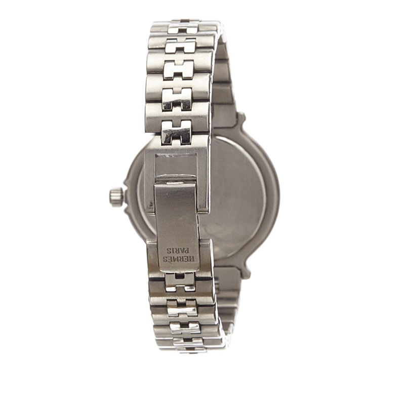 Hermes White Stainless Steel Captain Nemo Women's Wristwatch 21MM