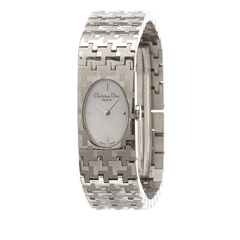Dior White Stainless Steel Miss Dior Women's Wristwatch 18MM
