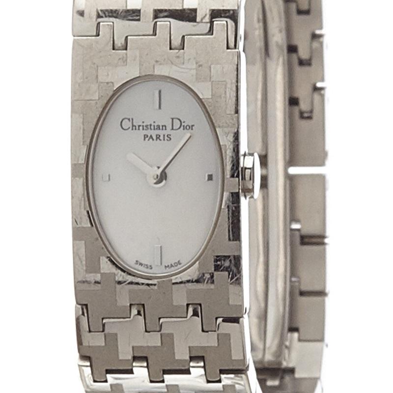 Dior White Stainless Steel Miss Dior Women's Wristwatch 18MM