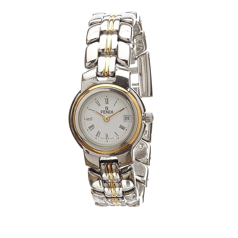 Fendi White Stainless Steel 980L Women's Wristwatch 25MM